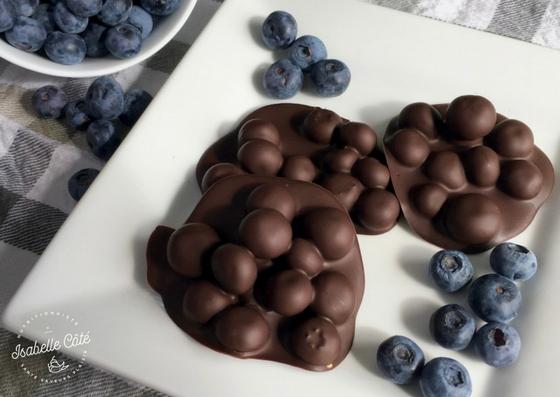 Rochers de bleuets au chocolat noir