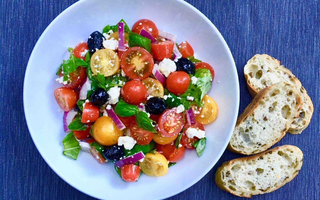 Salade de tomates cerises au féta