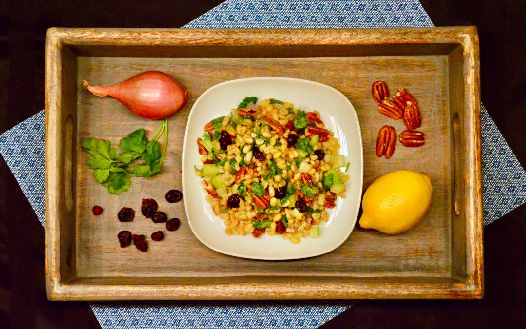 Salade de kamut citronnée aux fruits séchés