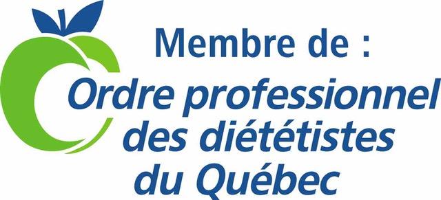 Membre de Odre professionnel des diététistes du Québec