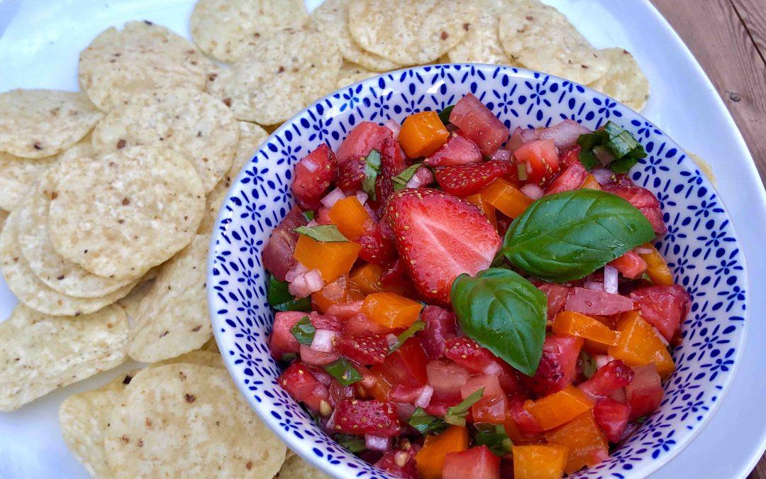 Salsa fraise et poivron Isabelle Côté nutritionniste