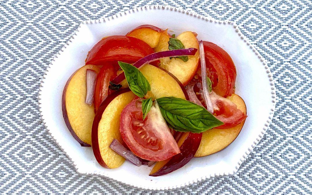 Salade de tomates et nectarines