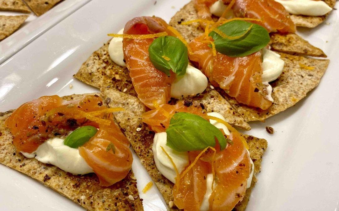 Gravlax de saumon au gin, agrumes et fenouil