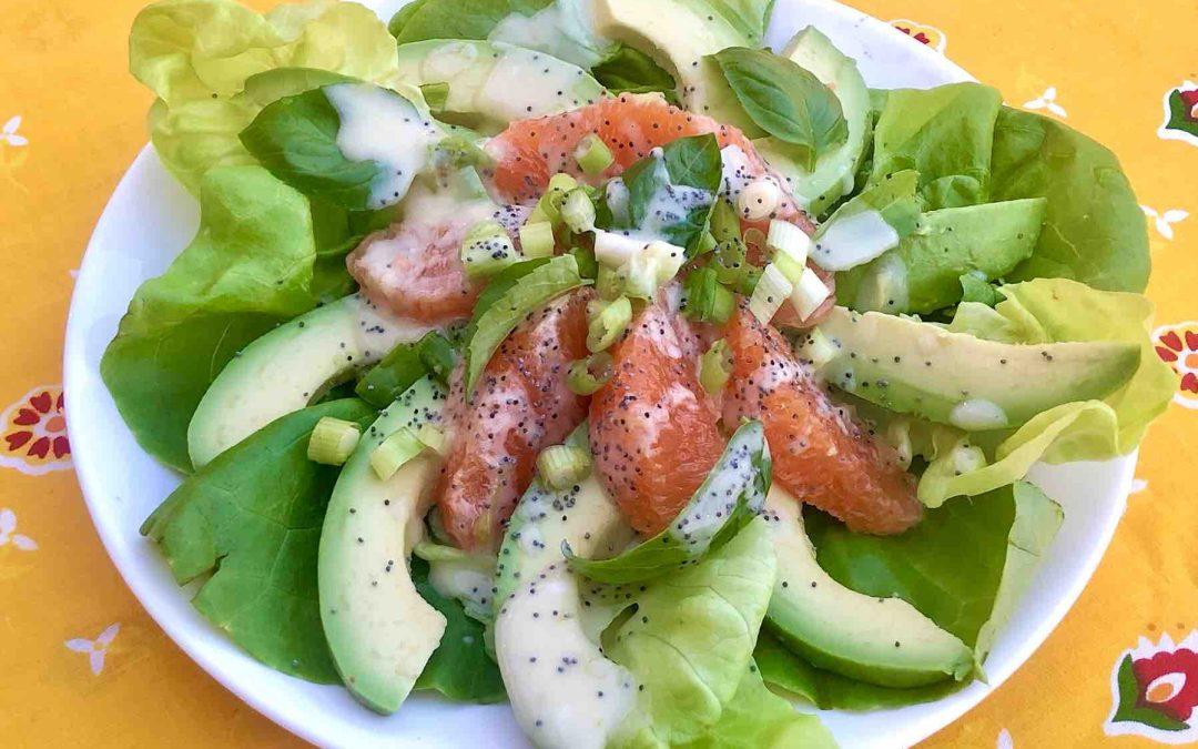 Salade d'orange et avocat à la lime