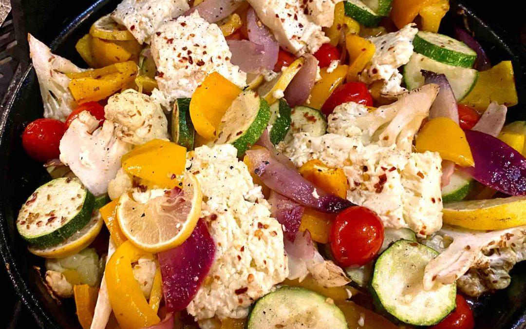 Légumes grillés au fromage feta